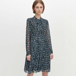 Reserved - Vzorované šaty sviazaním pri krku - Viacfarebná