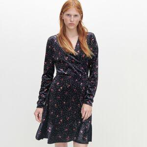 Reserved - Prekladané kvetinové šaty - Viacfarebná