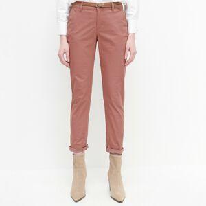 Reserved - Chino nohavice s opaskom - Ružová
