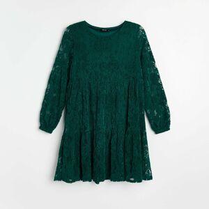 Reserved - Čipkované šaty - Khaki