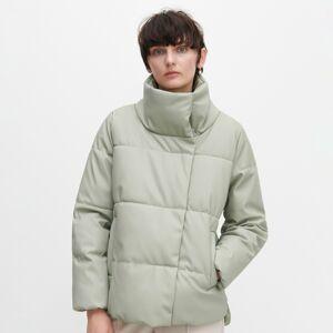 Reserved - Prešívaná bunda z umelej kože -
