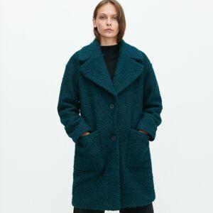 Reserved - Kabát z buklé - Zelená