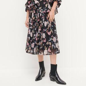 Reserved - Kvetovaná sukňa - Čierna
