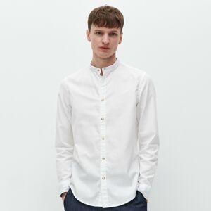 Reserved - Košeľa slim fit so stojačikom - Biela