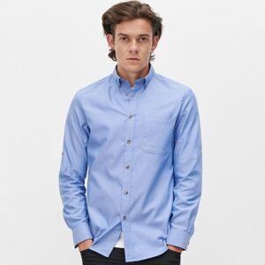 Reserved - Košeľa regular fit z organickej bavlny - Modrá