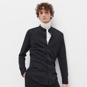 Reserved - Košeľa super slim fit so stojačikom - Čierna
