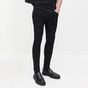 Reserved - Rifľové nohavice - Čierna