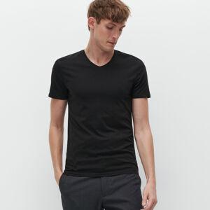 Reserved - Bavlnené basic tričko - Čierna
