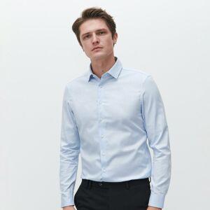Reserved - Bavlnené tričko slim fit - Modrá
