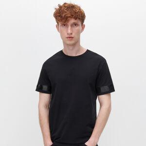 Reserved - Tričko s ozdobným pásom - Čierna