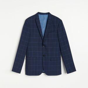 Reserved - Kárované oblekové sako slim fit - Tmavomodrá