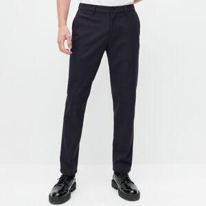 Reserved - Kárované chino nohavice - Tmavomodrá