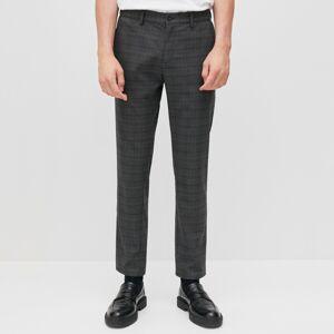 Reserved - Kárované chino nohavice - Šedá