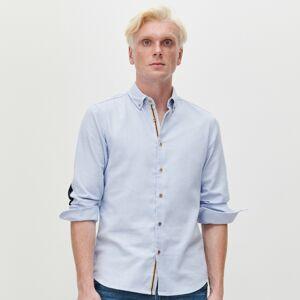 Reserved - Vzorovaná košeľa slim fit - Modrá