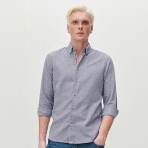 Reserved - Vzorovaná košeľa slim fit - Tmavomodrá