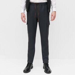 Reserved - Cargo nohavice s elastickým pásom - Šedá