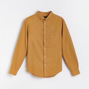 Reserved - Bavlnené tričko regular fit - Žltá