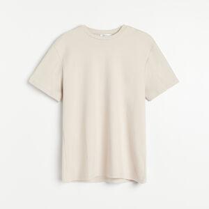 Reserved - Hladké tričko z organickej bavlny - Béžová