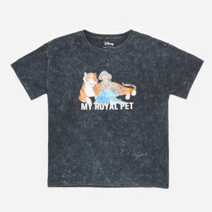 Reserved - Bavlnené tričko Princess Jasmine - Čierna
