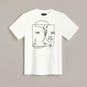 Reserved - Tričko s vyšívaným vzorom - Krémová