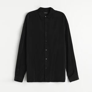 Reserved - Hladká košeľa slim fit - Čierna