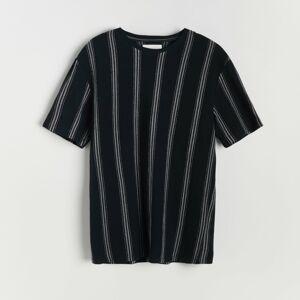 Reserved - Pásikavé bavlnené tričko - Šedá