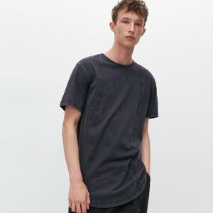 Reserved - Tričko so stehovaním - Čierna