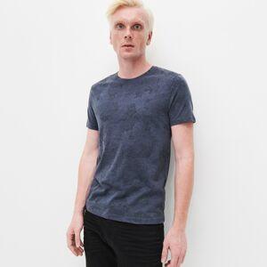 Reserved - Melanžové úpletové tričko - Tmavomodrá