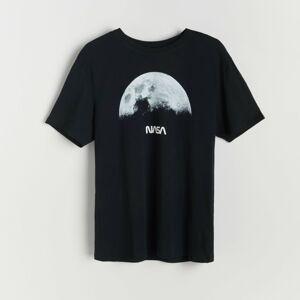 Reserved - Tričko s potlačou NASA - Čierna