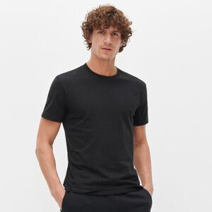 Reserved - Hladké tričko z organickej bavlny - Čierna