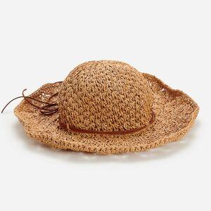 Reserved - Pletený klobúk so šnúrkou - Béžová