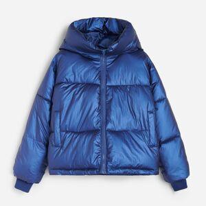 Reserved - Prešívaná bunda s kapucňou - Tmavomodrá