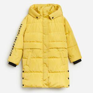 Reserved - Prešívaný plášť s kapucňou - Žltá