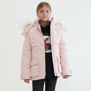 Reserved - Zateplená bunda s kapucňou - Ružová