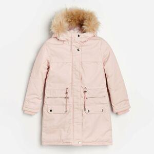Reserved - Zateplený kabát - Ružová