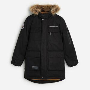 Reserved - Zateplená bunda s kapucňou - Čierna