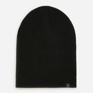Reserved - Čierna úpletová čiapka beanie - Čierna