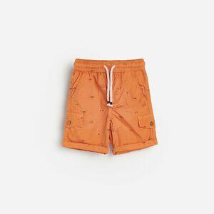 Reserved - Popelínové šortky s potlačou -
