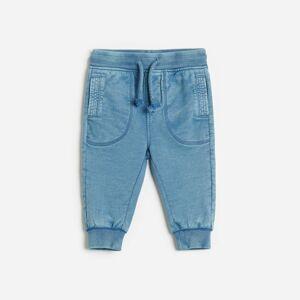 Reserved - Bavlnené teplákové nohavice - Modrá