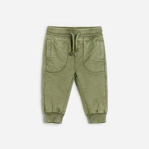 Reserved - Bavlnené teplákové nohavice - Khaki