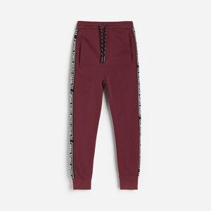 Reserved - Teplákové nohavice s pruhmi - Purpurová