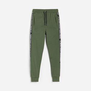 Reserved - Teplákové nohavice s pruhmi - Khaki