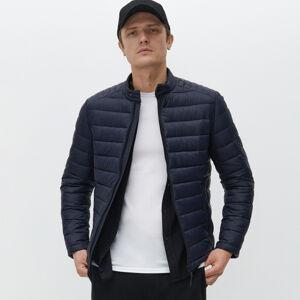 Reserved - Prešívaná bunda so stojačikom - Tmavomodrá