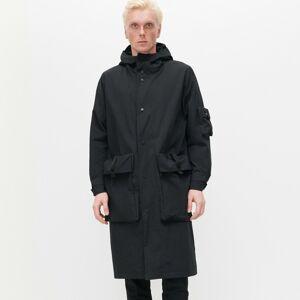 Reserved - Dlhá bunda s kapucňou - Čierna