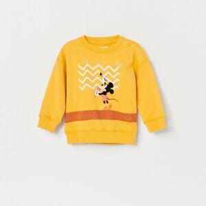 Reserved - Bavlnená mikina Mickey Mouse - Žltá
