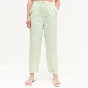 Reserved - Nohavice s elastickým pásom - Zelená