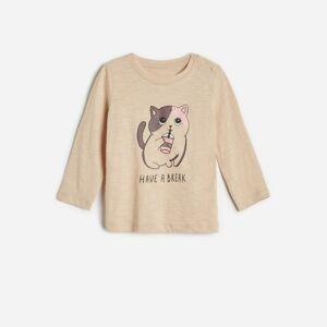 Reserved - Bavlnená košeľa s potlačou -