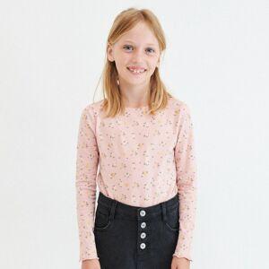 Reserved - Bavlnené tričko s kvetinovou potlačou - Ružová