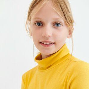 Reserved - Bavlnená roláková blúzka - Žltá