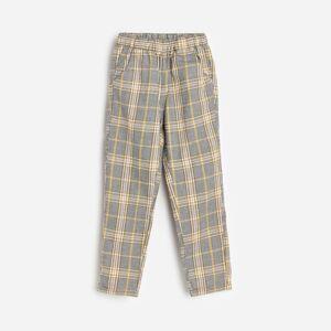 Reserved - Kárované bavlnené nohavice - Žltá